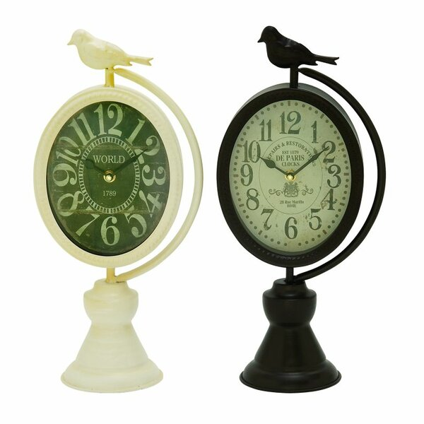 2 Piece Tabletop Clock Set (Set of 2) by Cole & Grey