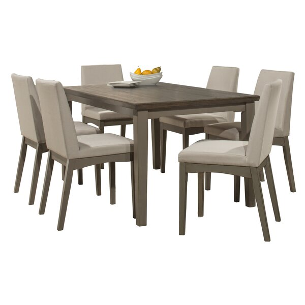 Kinsey 7 Piece Dining Set by Rosecliff Heights