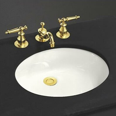 Caxton Ceramic Oval Undermount Bathroom Sink with Overflow by Kohler