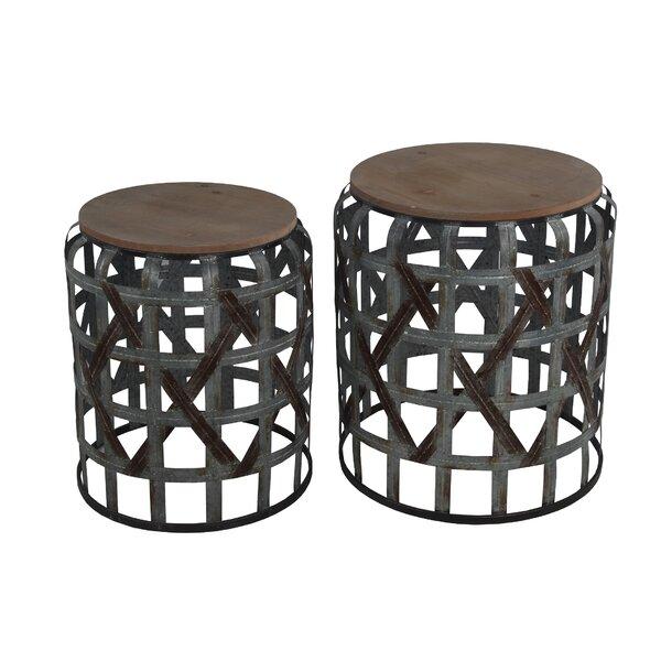 Deals Price Kersam 2 Piece Nesting Tables