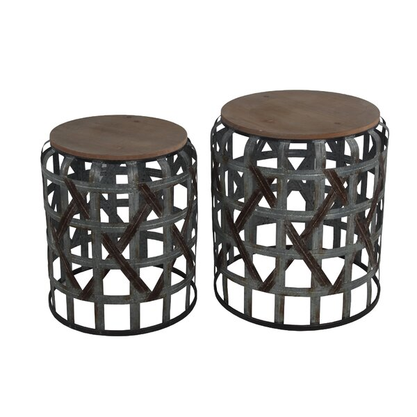 Kersam 2 Piece Nesting Tables By World Menagerie