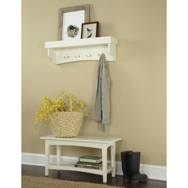 Bel Air -Piece Hall Tree Coat Hook and Bench Set by Alcott Hill
