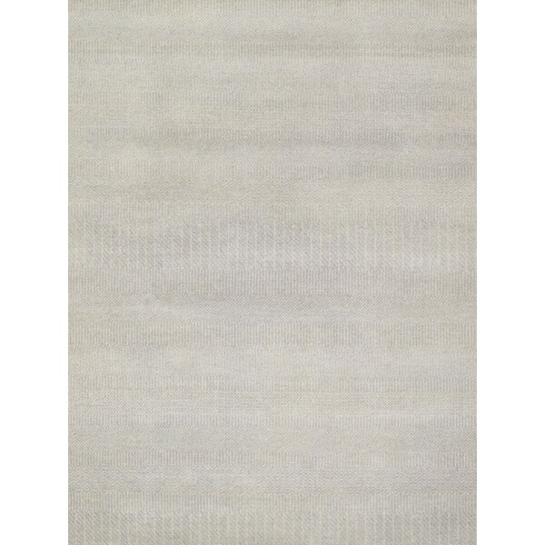 Transitional Hand-Knotted Light Blue Area Rug by Pasargad