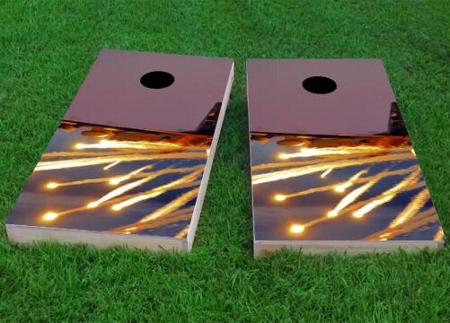 AC130 with Flares Cornhole Game (Set of 2) by Custom Cornhole Boards
