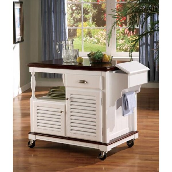 Libby Top Storage Kitchen Cart Granite Top By Alcott Hill Bargain
