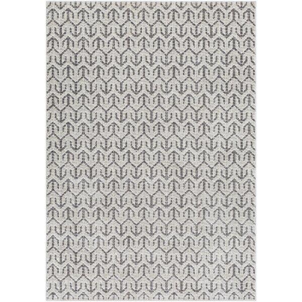 Hyacinth Modern Geometric Charcoal/Gray Area Rug by Wrought Studio