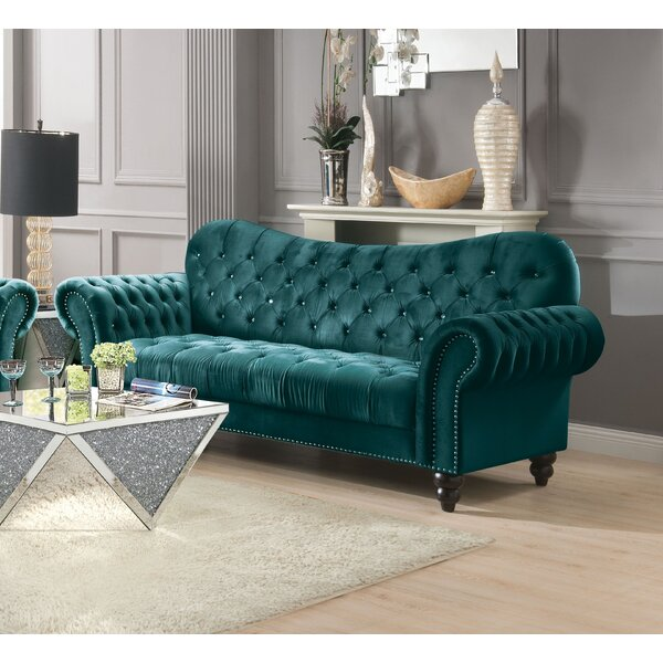 Lizabeth Button Tufted Chesterfield Sofa by House of Hampton