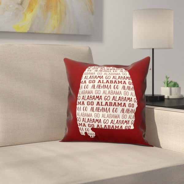 Alabama Go Team Throw Pillow by East Urban Home