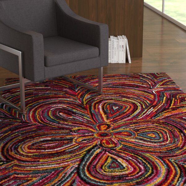 Miley Red Area Rug by Latitude Run