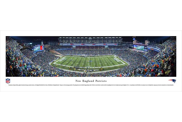 NFL New England Patriots - Night Photographic Print by Blakeway Worldwide Panoramas, Inc