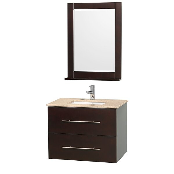 Centra 30 Single Espresso Bathroom Vanity Set with Mirror by Wyndham Collection