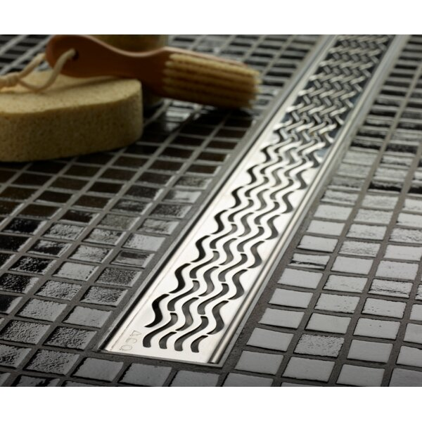 Wavy Linear 2 Linear Shower Drain by QuARTz by ACO