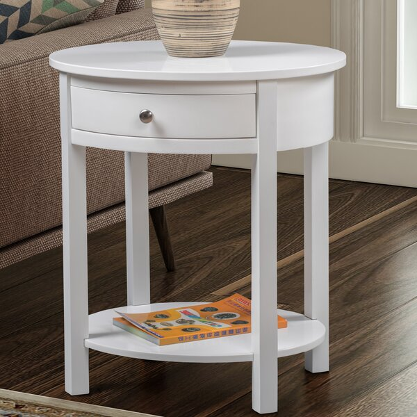 Moravian End Table With Storage By Alcott Hill