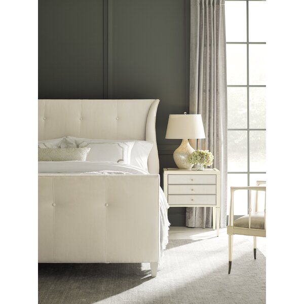 Tufted Upholstered Panel Bed by Caracole Classic Caracole Classic