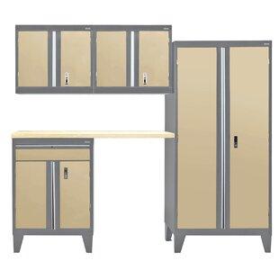Modular 5 Piece Storage Cabinet Set BySandusky Cabinets