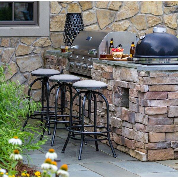 Adjustable 27.25-inch Patio Bar Stool With Cushion By Peak Season Inc.