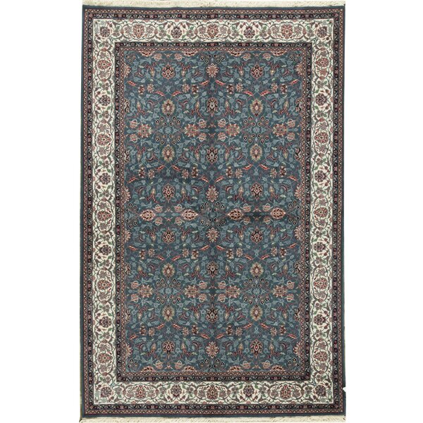 Jahan Oriental Hand-Knotted Wool Blue Area Rug