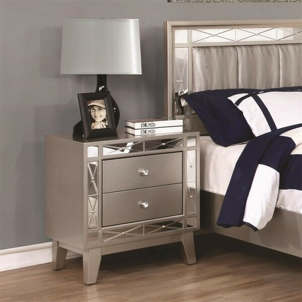 Hodge 2 Drawer Nightstand by House of Hampton