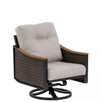 Brazo Woven Swivel Action Patio Chair with Cushion by Tropitone