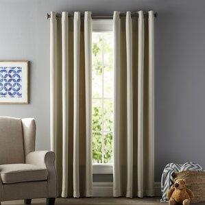 Tamara Solid Blackout Thermal Grommet Curtain Panels Set Of 2