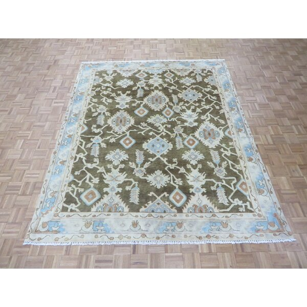One-of-a-Kind Josephson Turkish Oushak Hand-Knotted Wool Brown Area Rug by Canora Grey
