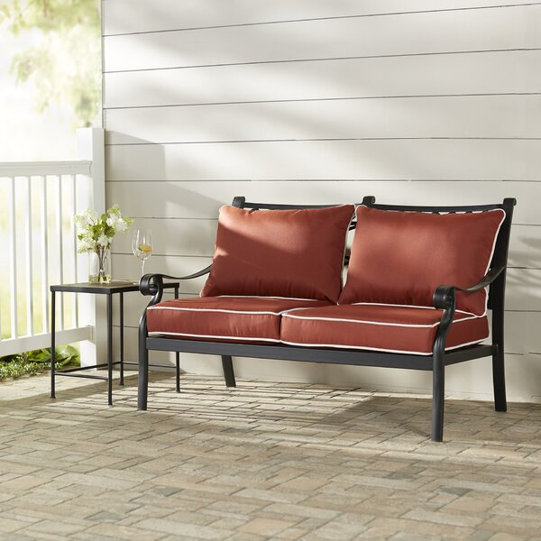 Nadine Loveseat with Cushions by Fleur De Lis Living