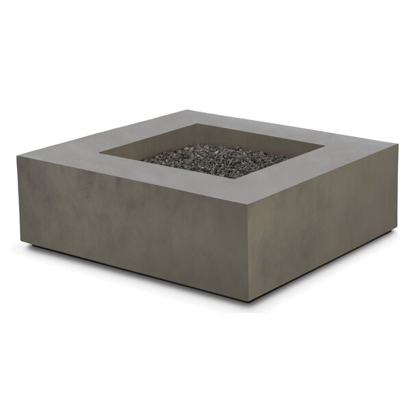 Makala Concrete Propane/Natural Gas Fire Pit Table by Freeport Park