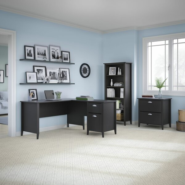 Connecticut 3 Piece L-Shape Desk Office Suite by Kathy Ireland Office by Bush