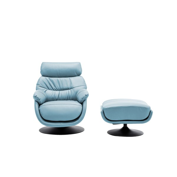 Wanita Swivel Lounge Chair and Ottoman by Orren Ellis Orren Ellis