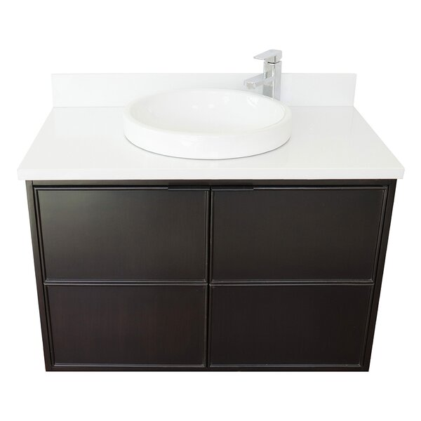 Elton 37 Wall-Mounted Single Bathroom Vanity Set by Gracie Oaks