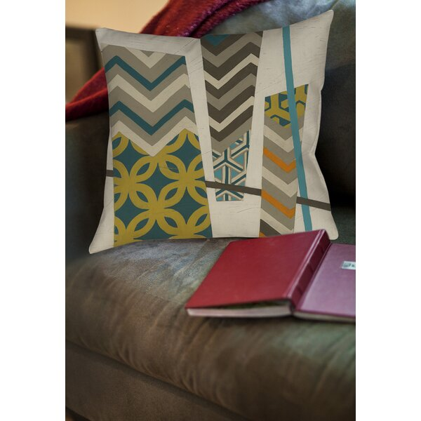 Abstract Scrapbook 1 Printed Throw Pillow by Manual Woodworkers & Weavers