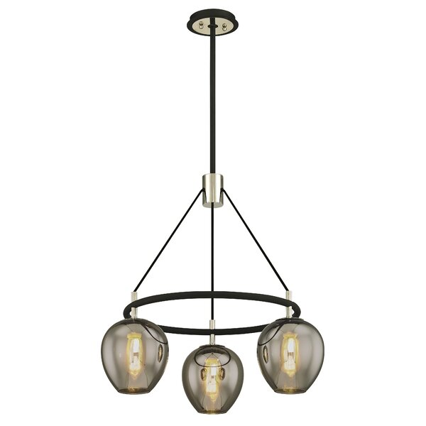 Hatley 3 - Light Shaded Wagon Wheel Chandelier by Williston Forge Williston Forge