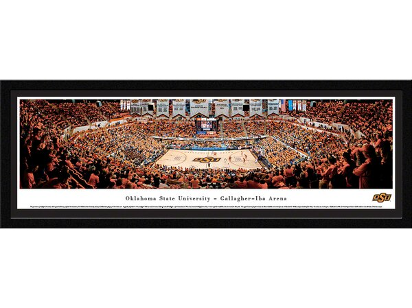 NCAA Oklahoma State University - Basketball by James Blakeway Framed Photographic Print by Blakeway Worldwide Panoramas, Inc