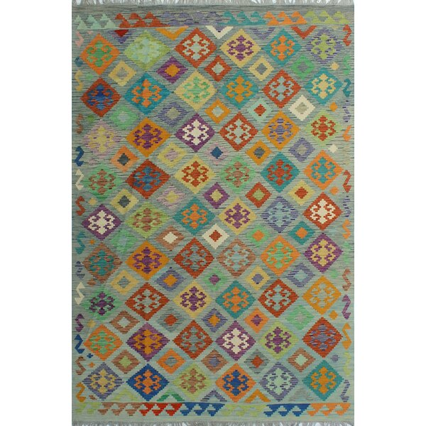 Corda Hand-Knotted Wool Red Area Rug by Bungalow Rose