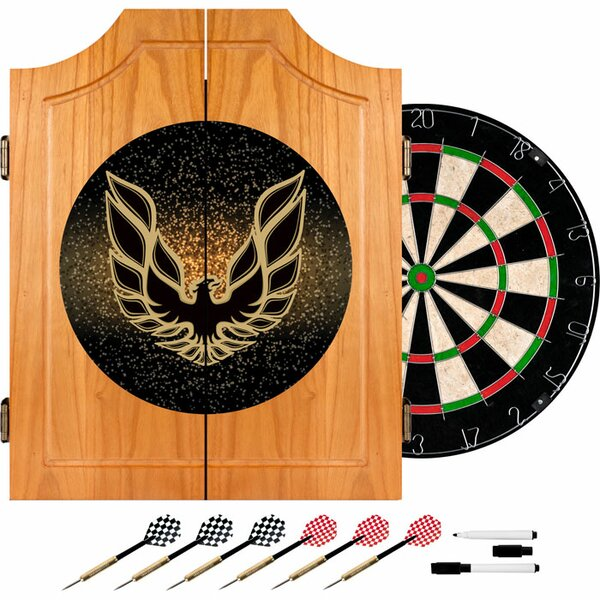 24.75 Pontiac Firebird Wood Dart Cabinet Set by Trademark Global