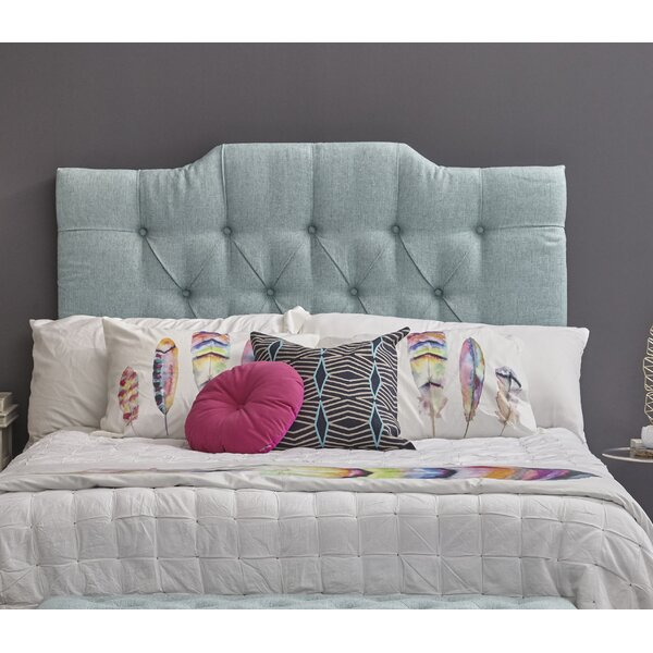 Feemster Saddle Back Button Tufted Upholstered Panel Headboard by Ivy Bronx