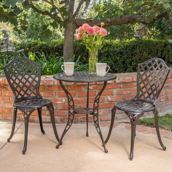 Grassingt 3 Piece Bistro Set by Fleur De Lis Living