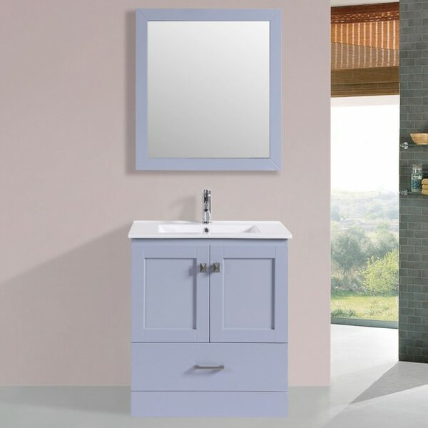 Landrum Modern 30 Single Bathroom Vanity Set with Mirror by Latitude Run