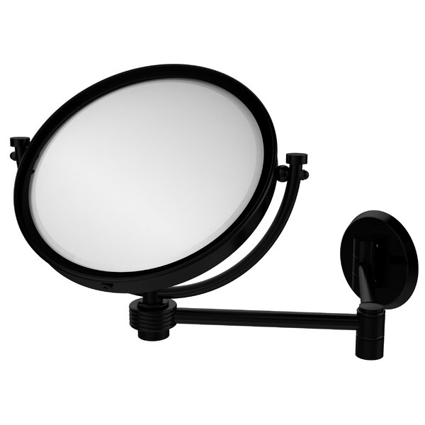Extend 5X Magnification Wall Mirror with Groovy Detail by Allied Brass