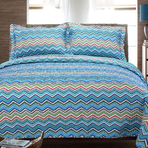 Zig Zag 2 Piece Reversible Quilt Set by Simple Luxury