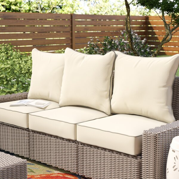 6 Piece Piped Indoor/Outdoor Sunbrella Sofa Cushion Set by Beachcrest Home