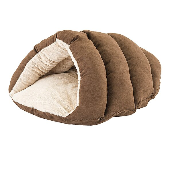 Sleep Zone Cuddler Cave Hooded Dog Bed by Ethical Pet