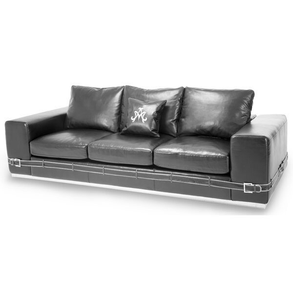 Mia Bella Ciras Leather Sofa by Michael Amini