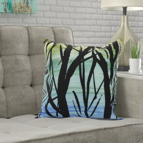 Licata Sunset Branches Floral Print Throw Pillow by Wrought Studio
