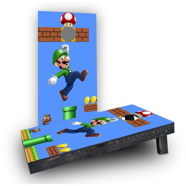 Super Mario Brother - Luigi Cornhole Boards (Set of 2) by Custom Cornhole Boards