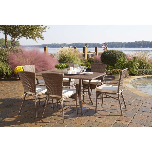 Key Biscayne 7 Piece Dining Set with Cushions by Panama Jack Outdoor