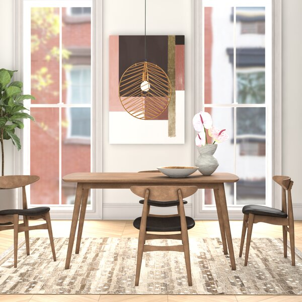 Aiden 5 Piece Solid Wood Dining Set by Foundstone Foundstone