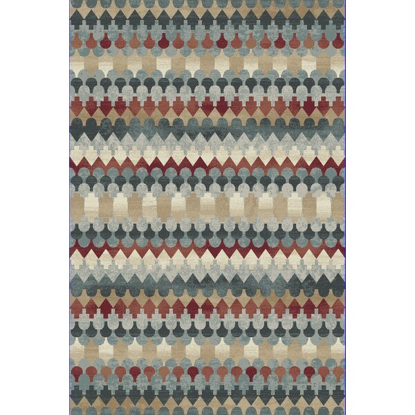 Perrinton Blue Area Rug by Wrought Studio