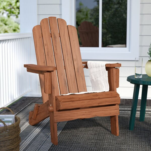 Imane Solid Wood Folding Adirondack Chair by Loon