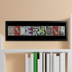 Personalized Gift Architectural Elements II Family Name Framed Photographic Print by JDS Personalized Gifts